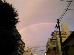 代官山っていうか恵比寿っつうかっていうあたりから見た虹