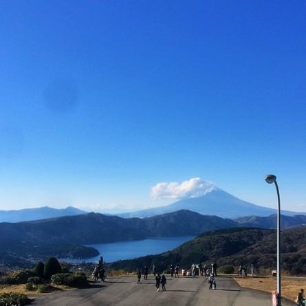 Mazdaターンパイク箱根 スカイラウンジからの富士山