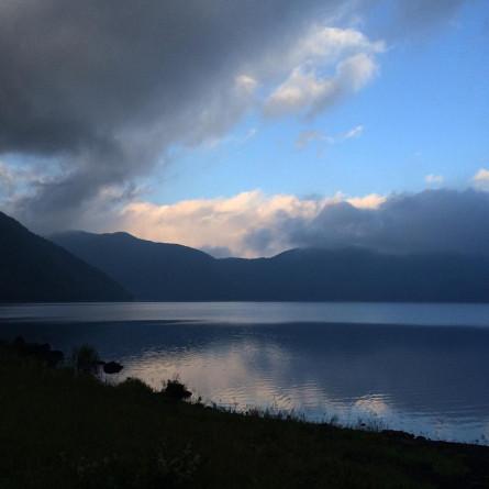 6時頃の本栖湖